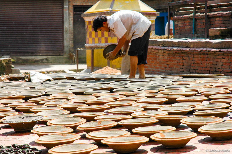 Pottery Drying<br /> Potters' Square<br /> Bhaktapur