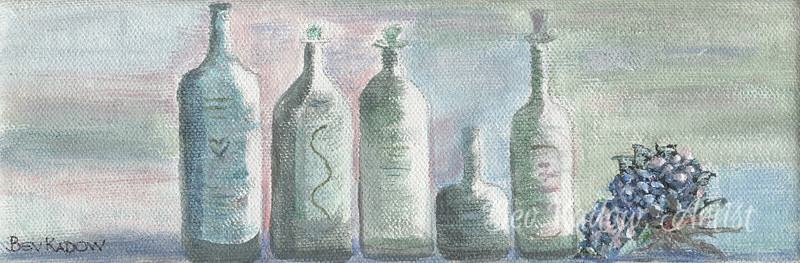 Spa Bottles with Hydrangea