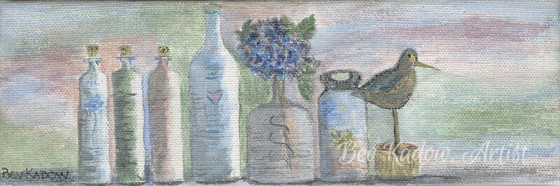 Spa Bottles with Bird