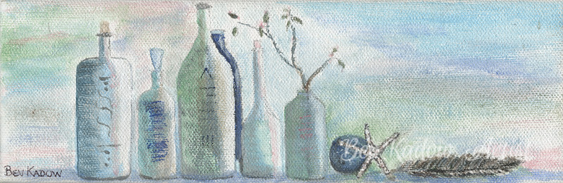 Spa Bottles with Feather