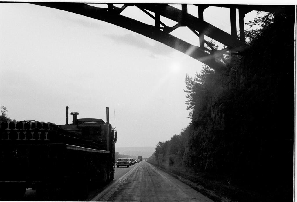 Truck, Bridge, Cars and Wall