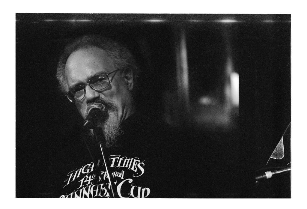 Poet John Sinclair at the Heartland Cafe