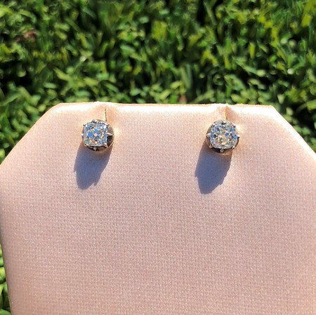1.20ctw (est0 Peruzzi Diamond Collet Set Earrings