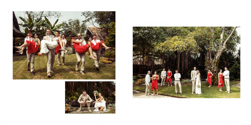 A fun crew to work with. We did all the bridal photos onsite and it was humid and hot. My trademark Asian Squat shot made it to their album!