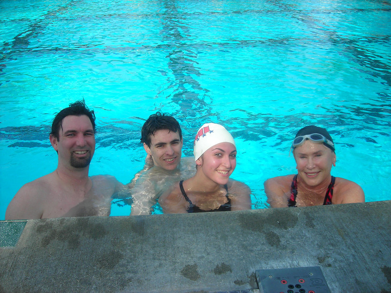 Bryan, Collin, Melissa, and Diane at the noon Simi Pool CVMM workout!