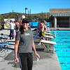Julie at CLU for the 1-Hour Swim!