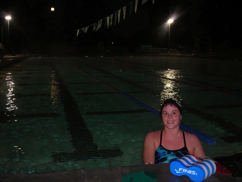 Allie Comstock 5:30am @ Simi Valley Pool!