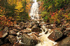 NH CONWAY WHITE MOUNTAINS APP TRAIL ARETHUSA FALLS OCTJH_MG_3349bSSW
