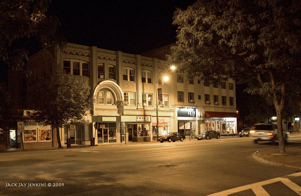 """Main Street - years ago there was a movie theater located here. The arch was the entrance. I saw the film """"Jeremiah Johnson"""" there when I first moved to Nashua in 1975."""