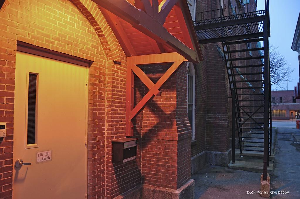 Side entrance to United Methodist Church, Main Street, Nashua
