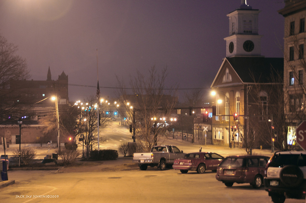 Main Street, looking south from Library Hill, Nashua