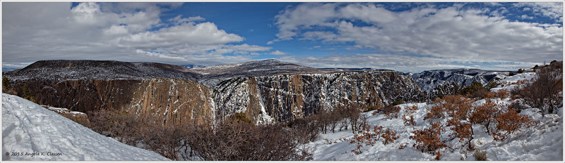 Black Canyon of the Gunnison National Park, Colorado, panoramic shot from visitor center parking lot