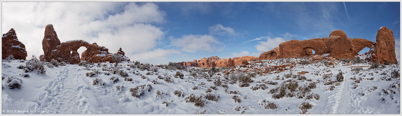 Windows panorama, Arches National Park, Utah