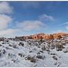 Windows panorama, Arches National Park, Utah