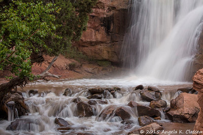 Detail of Faux Falls, near Moab, Utah