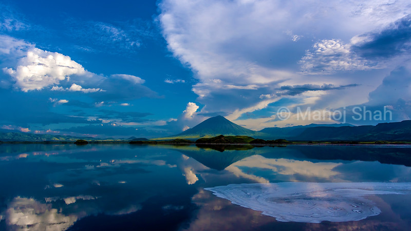 Ol Doniyo Lengaii Mountain and Lake Natron landscape, Tanzania