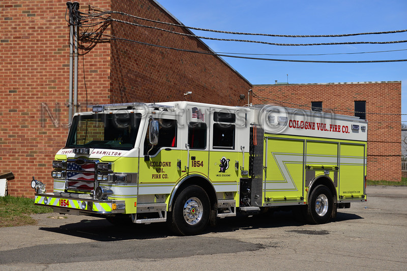 HAMILTON TOWNSHIP, NJ COLOGNE FIRE CO. ENGINE 1854