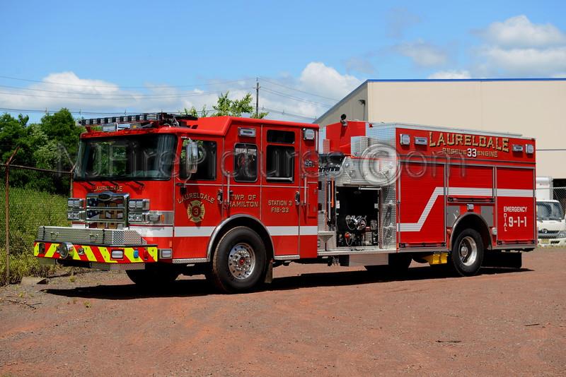 HAMILTON TWP, NJ RESCUE ENGINE 33 LAURELDALE FIRE CO.