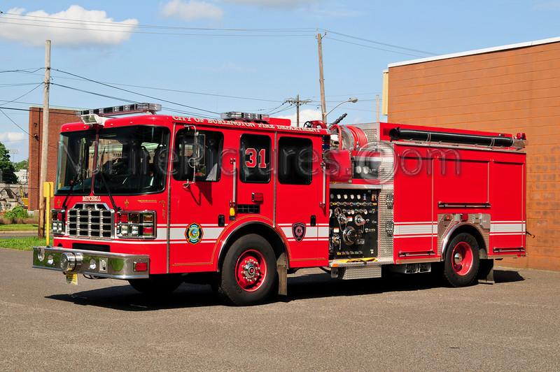 BURLINGTON CITY (MITCHELL HOSE CO.) ENGINE 9031 - 2011 HME/FERRARA 2000/500