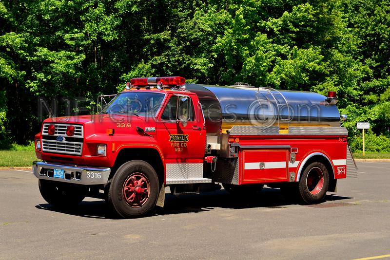 MANSFIELD TWP, NJ FRANKLIN FIRE CO. TANKER 3316