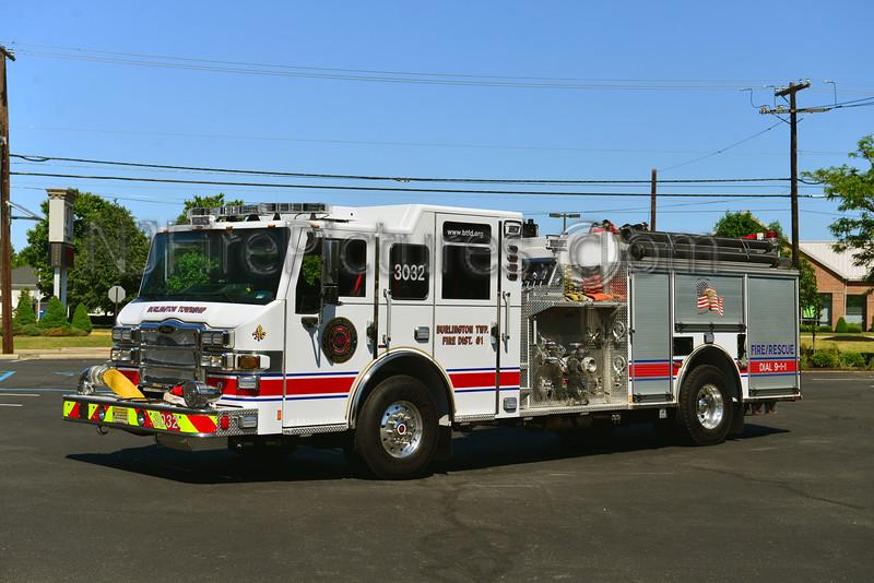 BURLINGTON TOWNSHIP, NJ ENGINE 3032 RELIEF FIRE CO.
