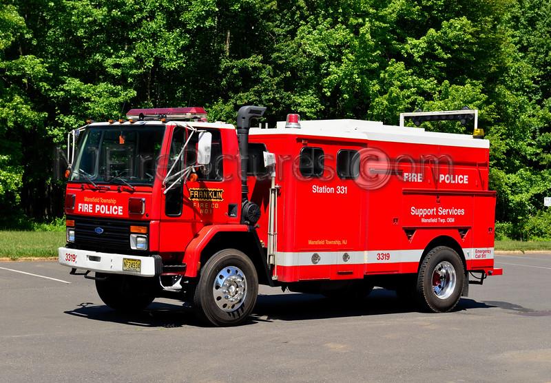 MANSFIELD TWP, NJ FRANKLIN FIRE CO. FIRE POLICE 3319