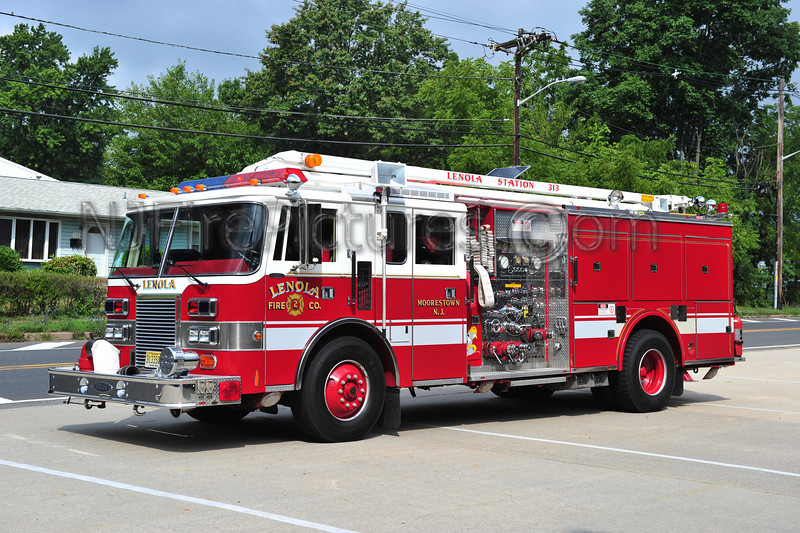 MOORESTOWN, NJ (LENOLA FIRE CO.) TELESQURT 3133 - 1991 PIERCE LANCE 1500/750/100/54'