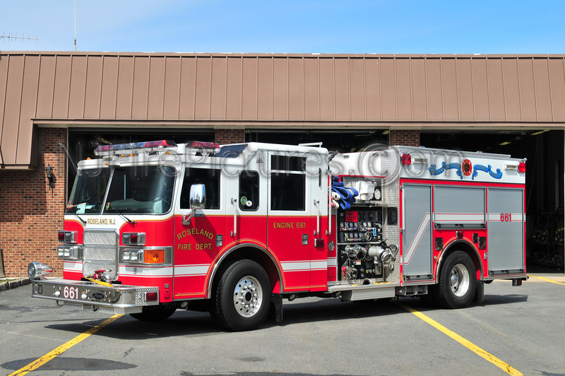 ROSELAND, NJ ENGINE 661 - 2003 PIERCE ENFORCER 1750/750/20/20