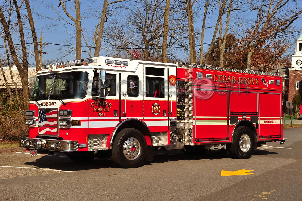 CEDAR GROVE (CENTER FIRE CO. 1) ENGINE 71 - 2010 PIERCE ARROW XT PUC 1500/500/30