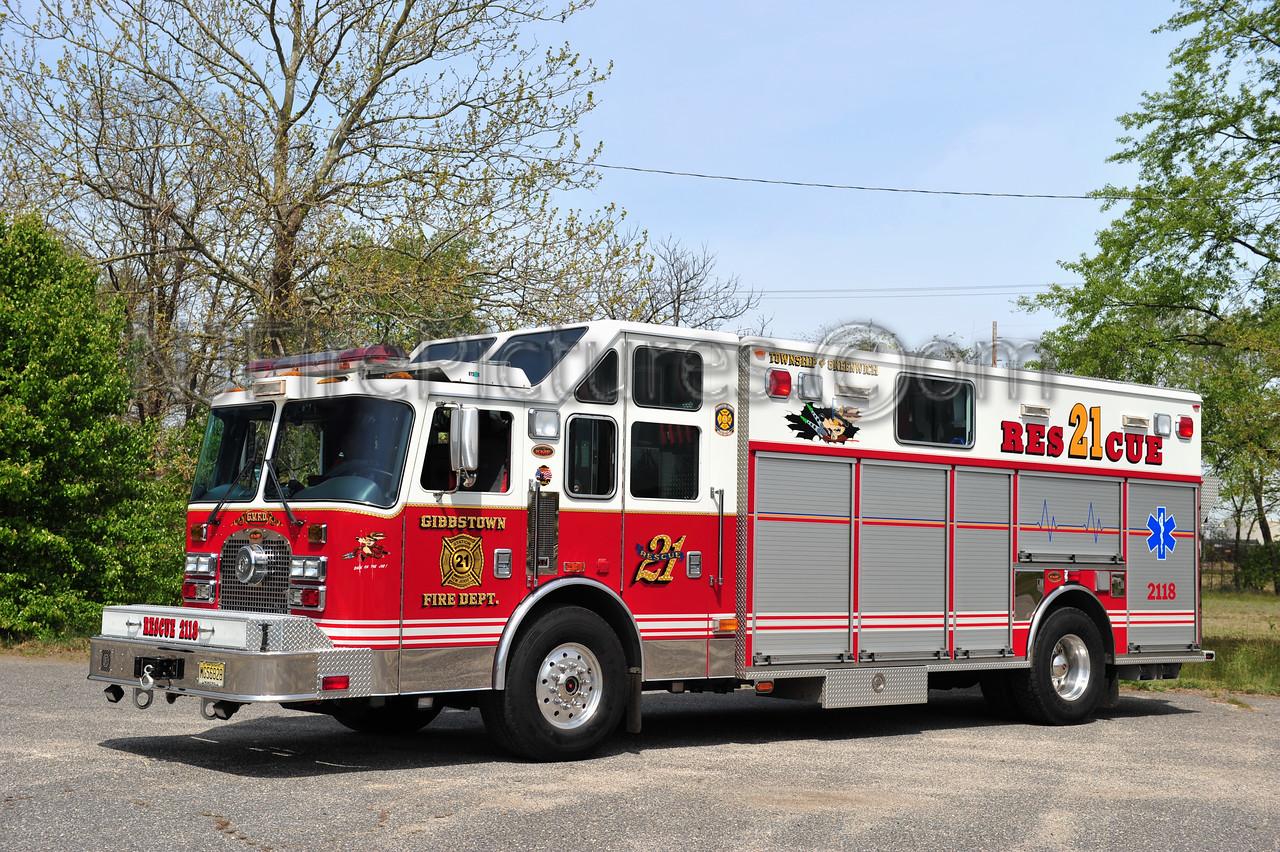 GREENWICH TWP (GIBBSTOWN FIRE CO.) RESCUE 2118 - 2003 KME