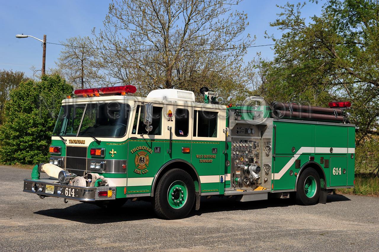 WEST DEPTFORD TWP (THOROFARE FIRE CO.) ENGINE 614 - 1998 PIERCE SABER 1500/750