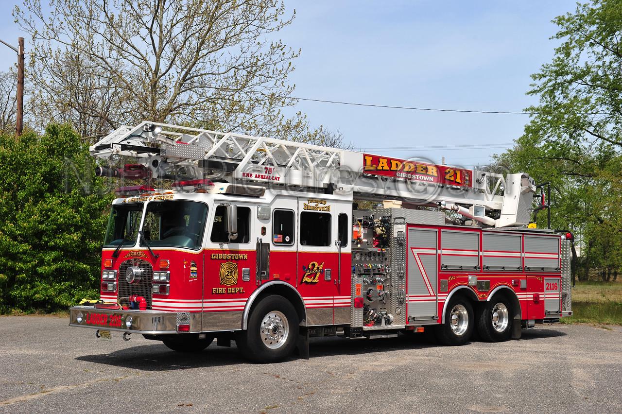 GREENWICH TWP (GIBBSTOWN FIRE CO.) LADDER 2116 - 2000 KME 1500/500/75'