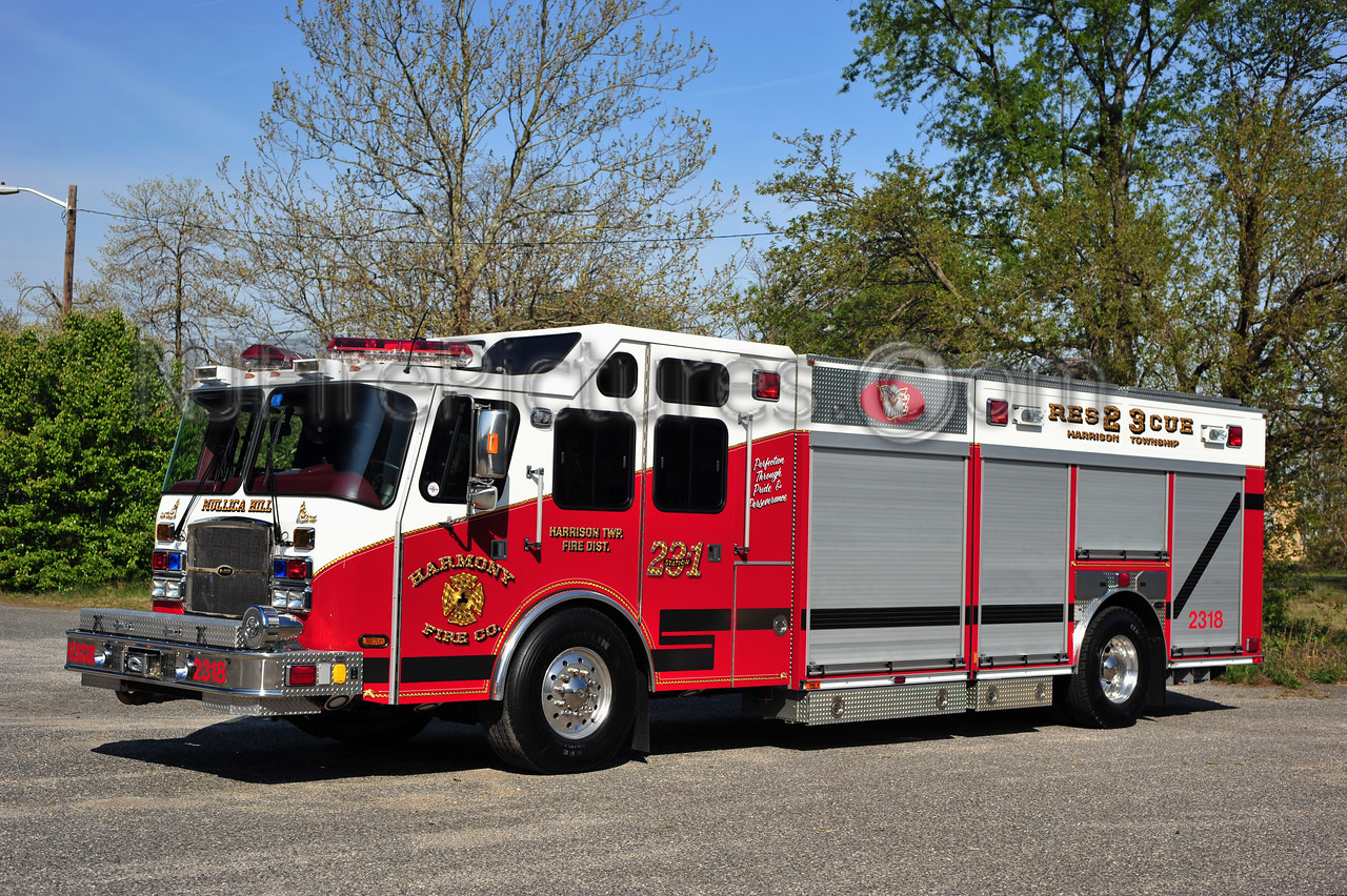 HARRISON TWP (MULLICA HILL) RESCUE 2318 - 2010 EMERGENCY ONE 1250/500 HARMONY FIRE CO.