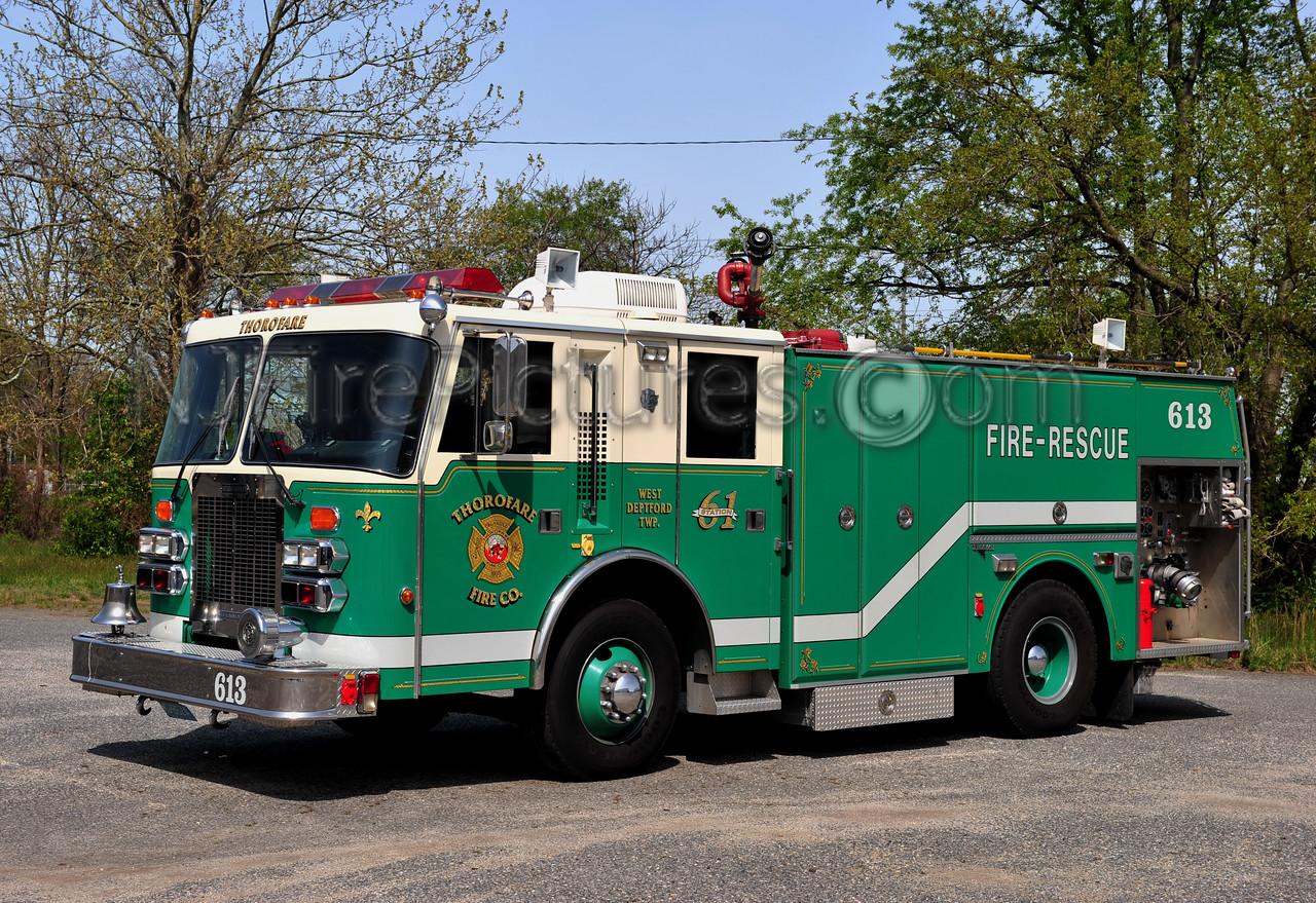 WEST DEPTFORD TWP (THOROFARE FIRE CO.) ENGINE 613 - 1991 SIMON DUPLEX/GRUMMAN 1750/750