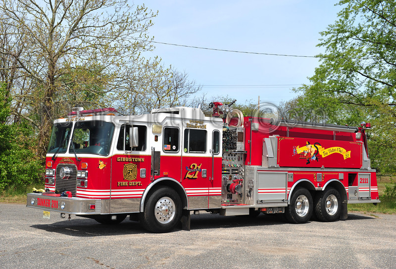 GREENWICH TWP (GIBBSTOWN FIRE CO.) TANKER 2111 - 1997 KME 1500/3000