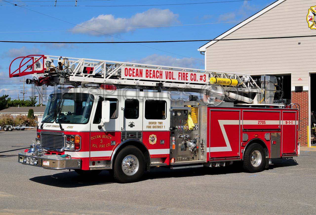DOVER TWP, NJ (OCEAN BEACH FIRE CO. 3) LADDER 2705
