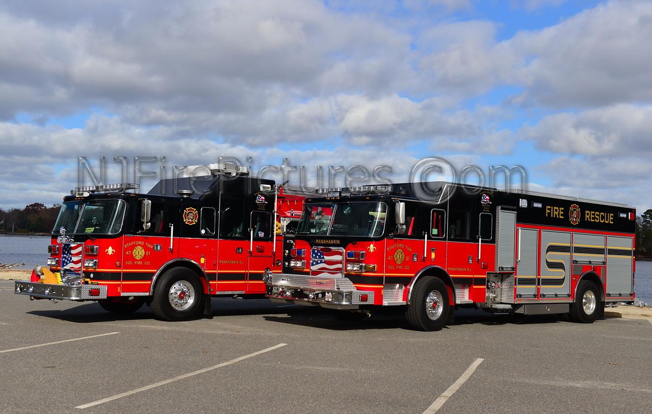 MANAHAWKIN, NJ STAFFORD TWP. RESCUE 47-31 & ENGINE 4721