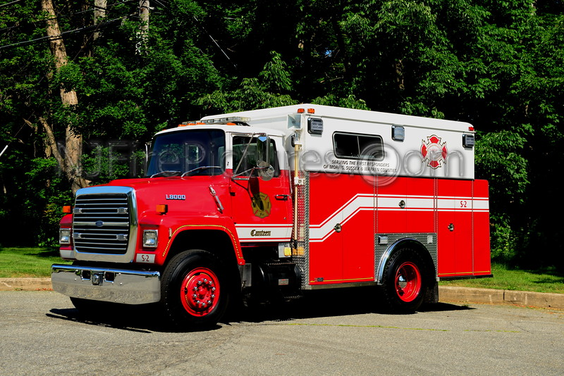 ANTIQUE FIRE APPARATUS OF NEW JERSEY CANTEEN 1