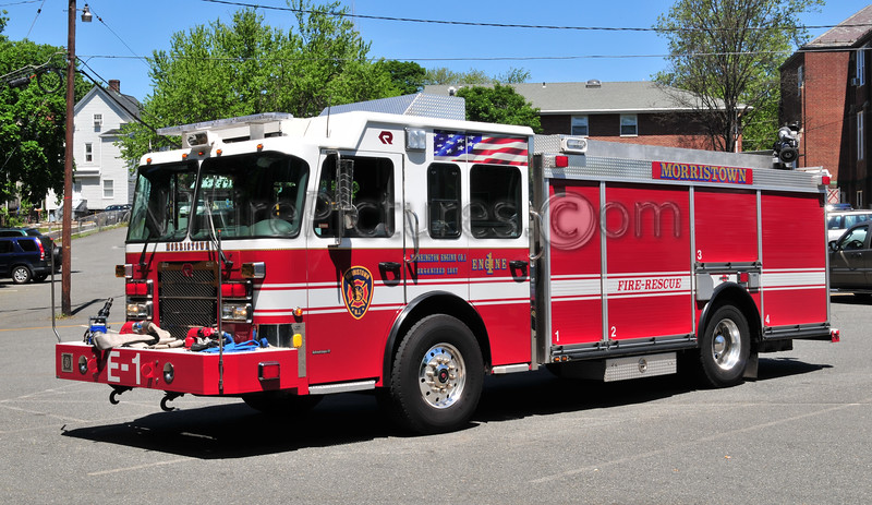 Morristown Engine 1 - 2007 Spartan/Rosenbauer/General Safety 2000/500/75B/25A