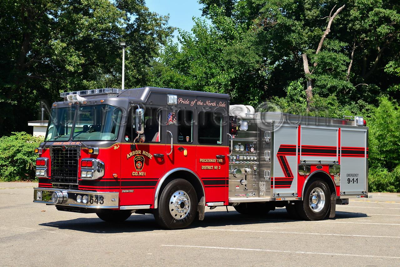 PISCATAWAY, NJ ENGINE 643 ARBOR HOSE CO. 1