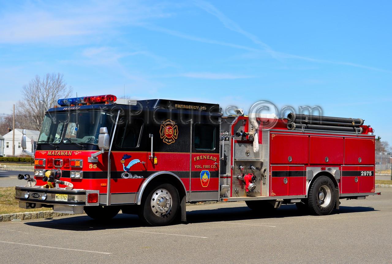 MATAWAN NJ FRENEAU FIRE CO. ENGINE 29-75