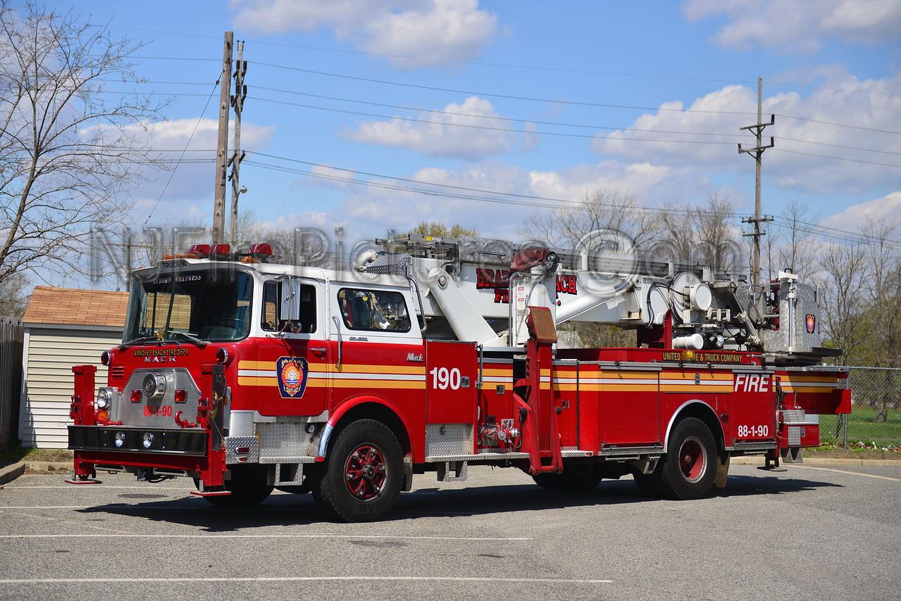 BRADLEY BEACH, NJ TOWER LADDER 88-1-90