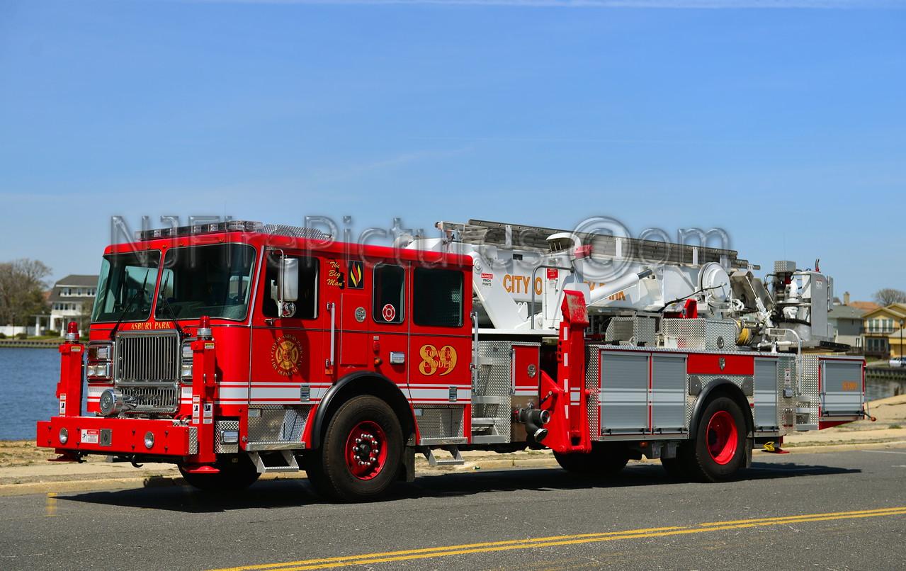 ASBURY PARK, NJ TOWER LADDER 83-89