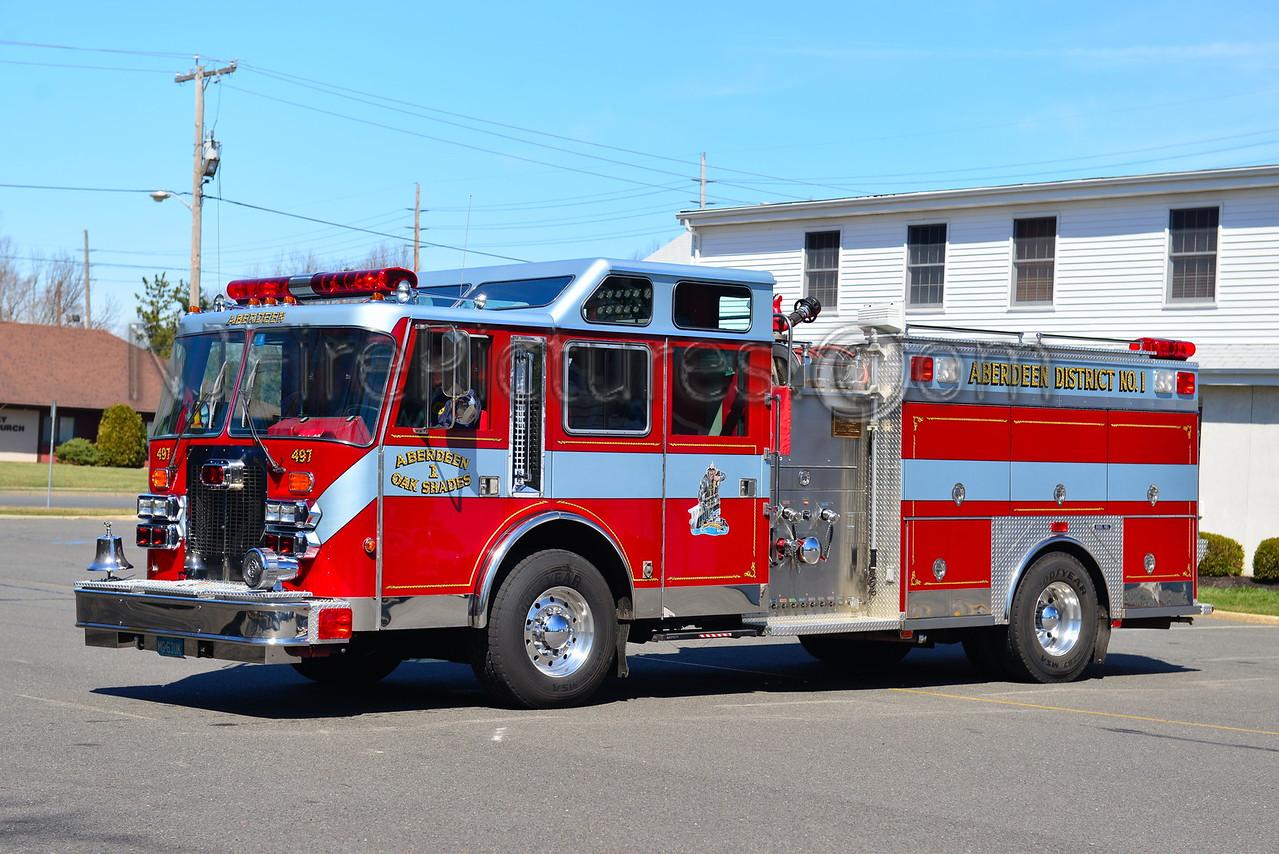 ABERDEEN NJ OAK SHADES FIRE CO. ENGINE 63-176