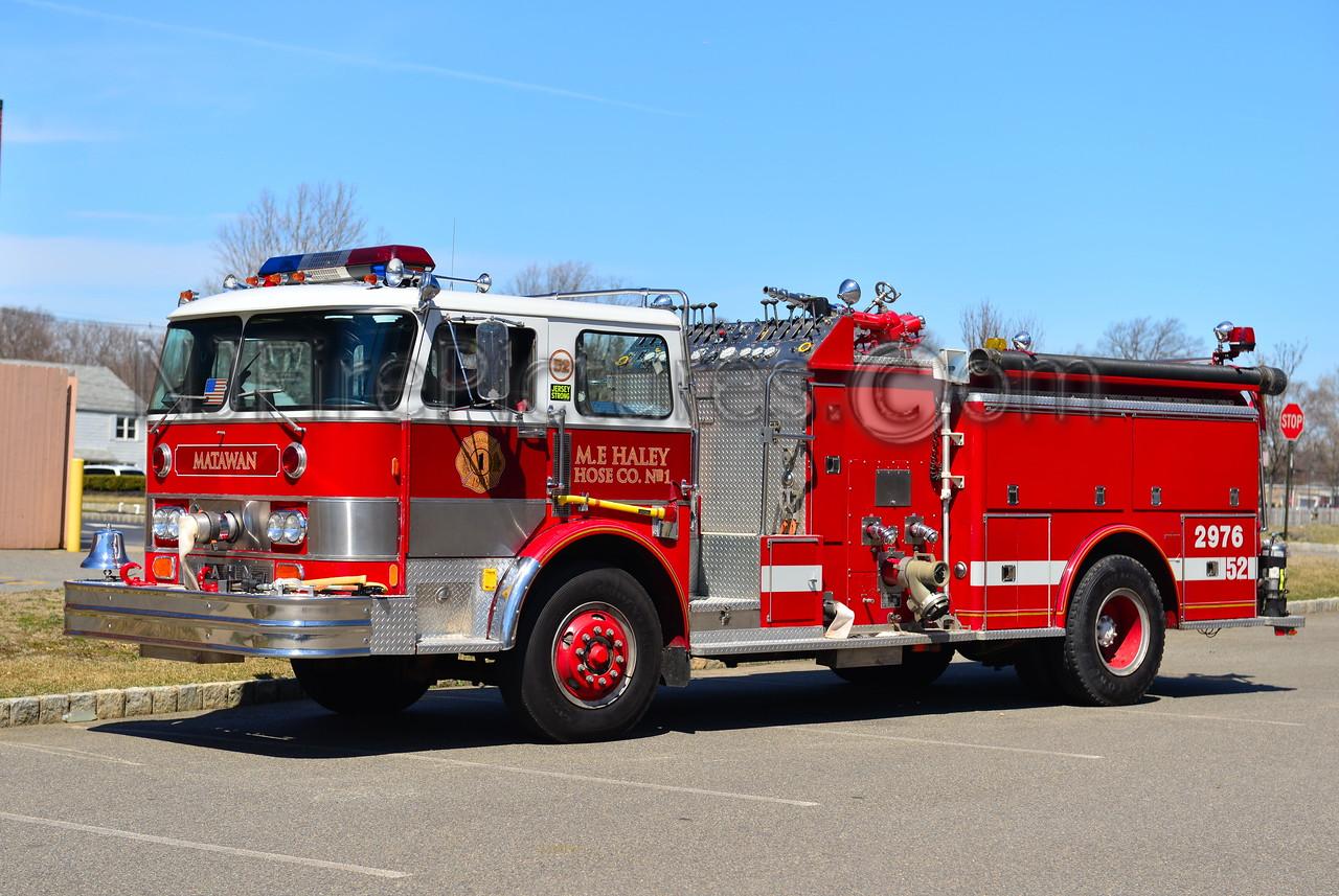 MATAWAN NJ M.E. HALEY HOSE CO. 1 ENGINE 29-76