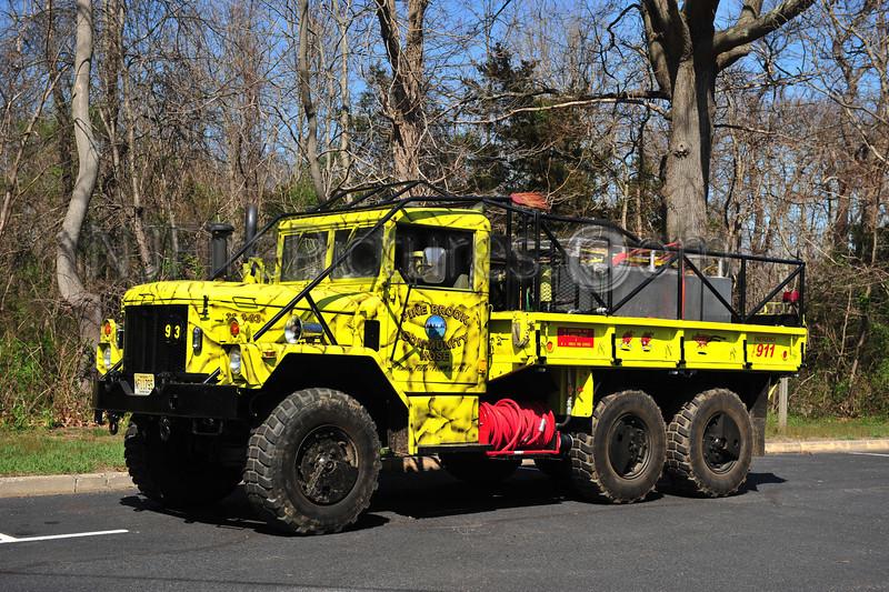 TINTON FALLS, NJ (PINE BROOK COMMUNITY FIRE CO.) BRUSH 36-3-93 - 1995 AMERICAN GENERAL M35A3 HP/550