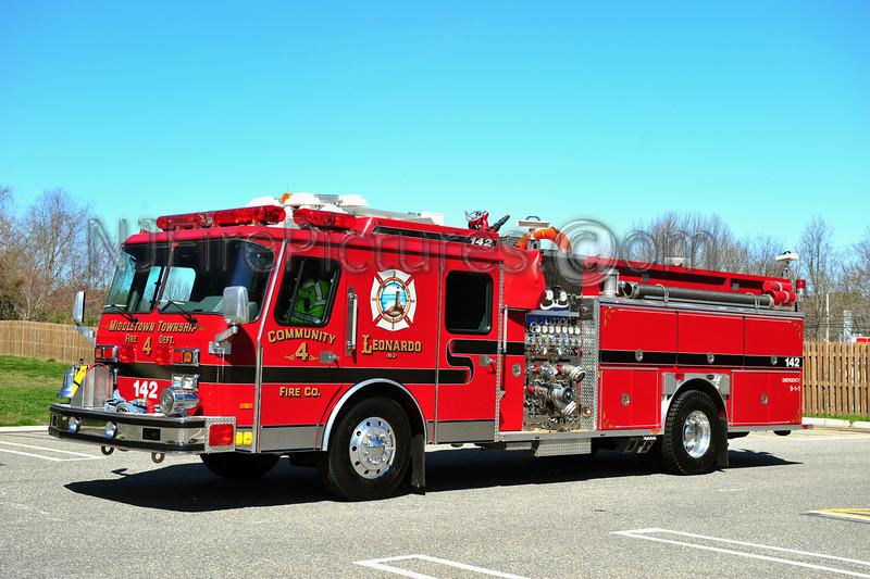 MIDDLETOWN, NJ ENGINE 142 - 1991 EMERGENCY ONE HUSH 1500/750 COMMUNITY FIRE CO.