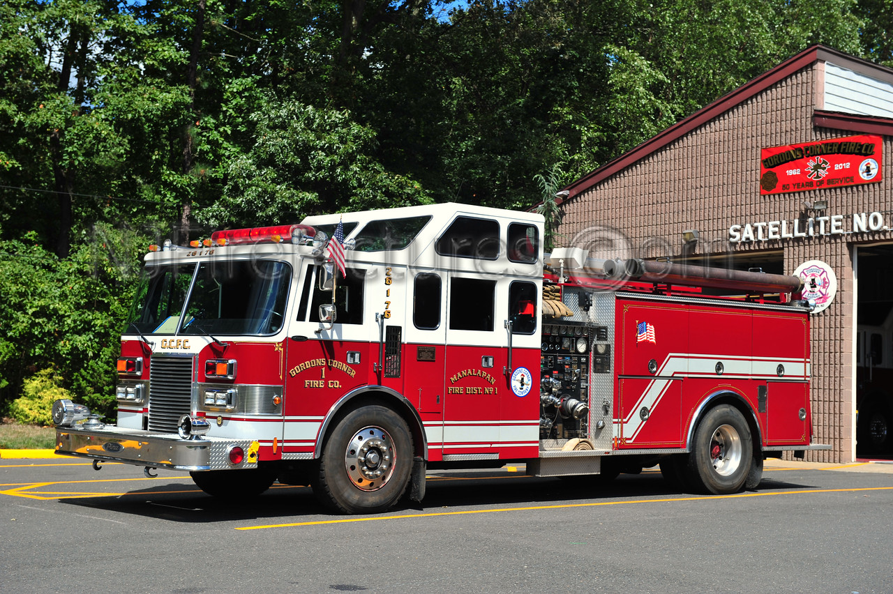 MANALAPAN TWP (GORDONS CORNER) ENGINE 26-1-76 - 1987 PIERCE LANCE 1500/750