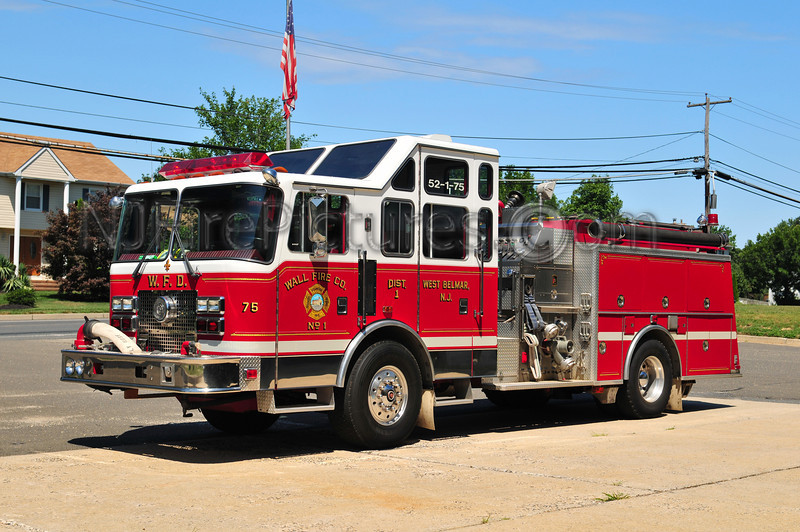 WALL TWP, NJ (WEST BELMAR) ENGINE 52-1-75 - 1993 KME 1500/750