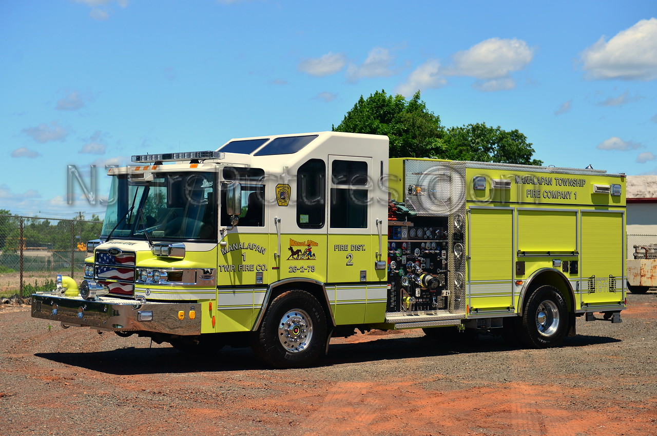 MANALAPAN, NJ ENGINE 26-2-78 - 2009 PIERCE QUANTUM 2000/750/50 CAFS